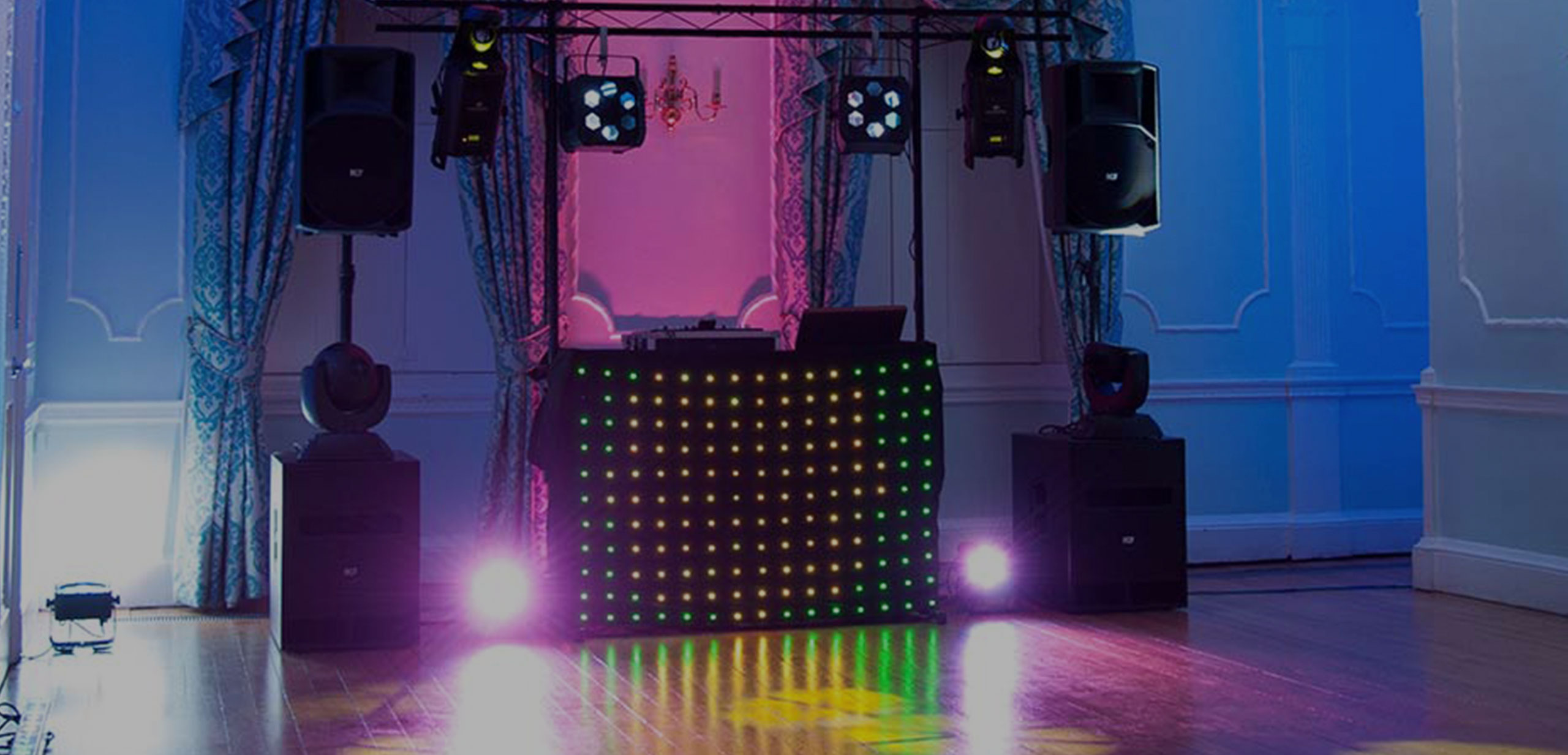 DJ – Sound and lighting packages <br/>tailored to suit events of all sizes