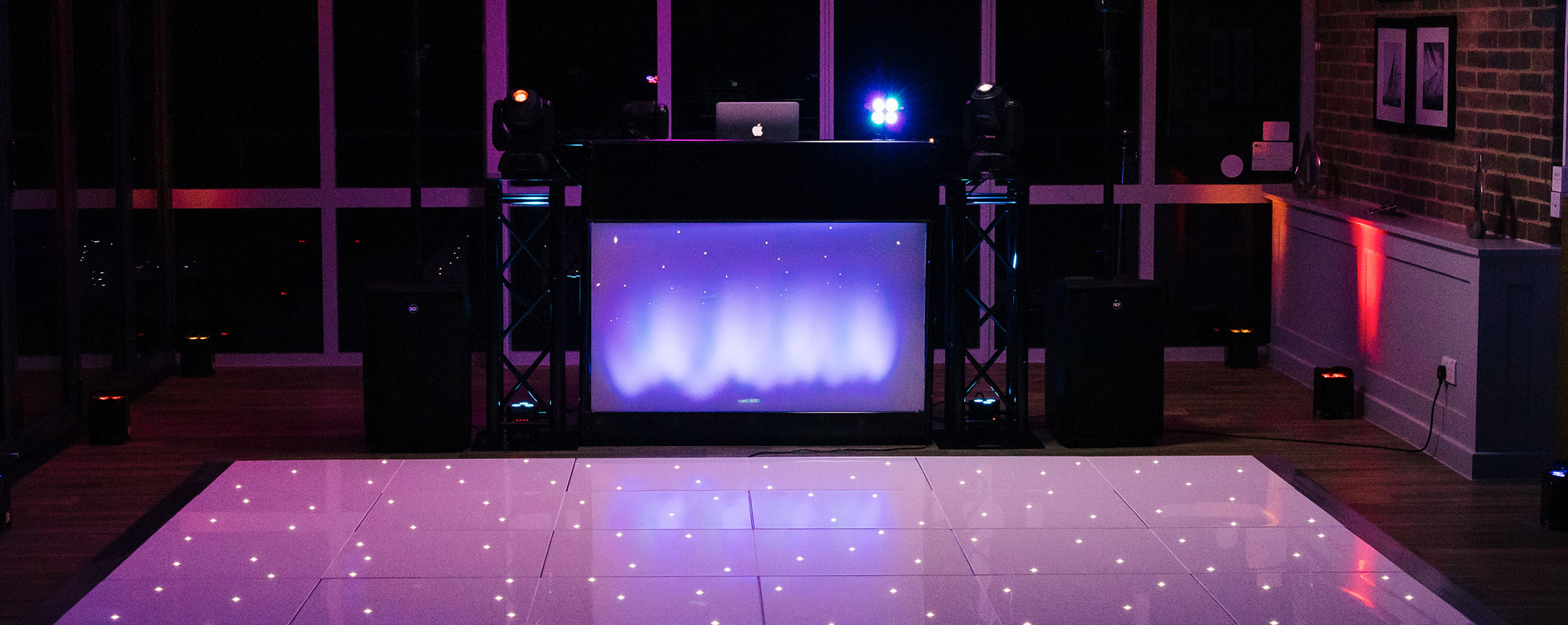 DJ, Dance Floor and Up-Lighters services